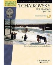 SCHIRMER TCHAIKOVSKY SEASONS OP37B + MP3 - PIANO SOLO