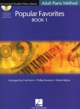 Student Piano Library Adult Popular Favorites + Cd 1 - Piano Solo