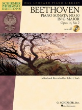 Schirmer Performance Edition Beethoven Piano Sonata No.10 Op14/2 + Cd - Piano Solo