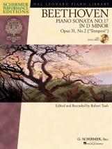 Schirmer Performance Editions Beethoven Sonata No.17 Op.31/2 + Cd - Piano Solo