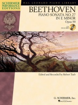 Schirmer Performance Edition Beethoven Sonata No.27 Op.90 + Cd - Piano Solo