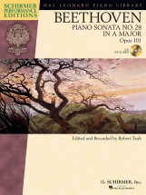 Schirmer Performance Edition Beethoven Sonata No.28 Op.101 + Cd - Piano Solo