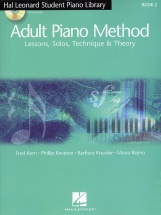 Adult Piano Method Lessons Solos Technique And Theory+ 2cd - Piano Solo