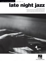 Jazz Piano Solos Volume 27 Late Night Jazz - Piano Solo