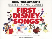Thompson John Easiest Piano Course First Disney Songs Easy - Piano Solo