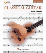 A MODERN APPROACH TO CLASSICAL GUITAR BOOK 2 WITH + MP3