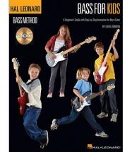 HAL LEONARD BASS METHOD BASS FOR KIDS BEGINNERS GUIDE + MP3 - BASS
