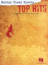 Guitar Cheat Sheets Top Hits 44 Mega Hits Musical Shorthand - Lyrics And Chords
