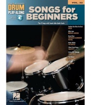 DRUM PLAY ALONG VOLUME 32 SONGS FOR BEGINNERS DRUMS + MP3 - DRUMS