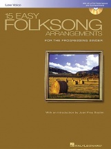 15 Easy Folksong Arrangements For Low Voice + Cd - Voice