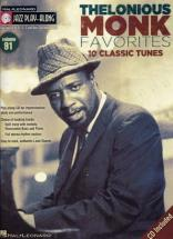 Thelonious Monk -jazz Play Along Vol.91 Thelonious Monk + Cd - Bb, Eb, C Instruments