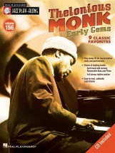 Jazz Play Along Volume 156 - Monk Thelonious Early Gems All Inst + Cd - B Flat Instruments