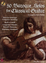50 Baroque Solos For Classical Guitar + Cd - Guitar