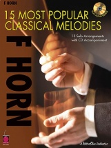 15 Most Popular Classical Melodies French + Cd - Horn