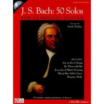 J.s. Bach 50 Solos For Classical Guitar + Cd - Guitar