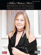 Streisand Barbra - What Matters Most Lyrics Alan Marilyn Bergman - Pvg