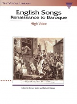 English Songs Renaissance To Baroque - High Voice