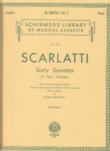 Scarlatti D. - 60 Sonatas Vol. 2 - Clavecin (piano)