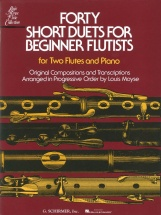 Moyse Louis - Forty Short Duets For Beginner Flutist - Flute