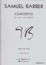 Barber S. - Concerto For Violin And Orch - Violon, Piano