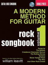 Berklee Press A Modern Method Guitar Rock Songbook Volume 1 + Cd - Guitar