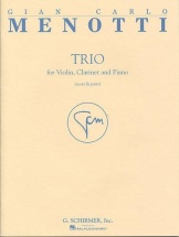 Menotti - Trio - Clarinette, Violon and Piano
