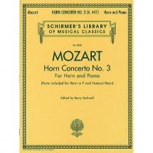 W.a. Mozart Horn Concerto No.3 Hn - Horn