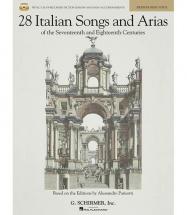 28 Italian Songs And Arias Medium  + 2 Cd - Piano, Chant