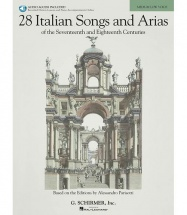 28 Italian Songs And Arias Medium + 2 Cd - Piano, Chant