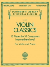 Schirmer's Library Of Musical Classics Violin Classics Intermediate - Violin