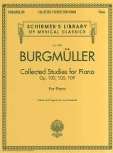 Burgmuller Collected Studies Op 100 105 109 - Piano Solo