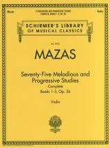 Schirmer Library Mazas 75 Melodious And Progressive Studies Op.36 - Violin