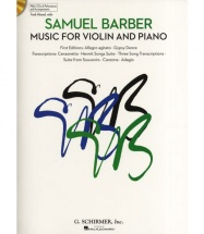 Samuel Barber Music For Violin And Piano + 2cd - Violin