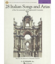 28 Italian Songs And Arias Of 17th And 18th Cent Parisotti High Voice + 2cd