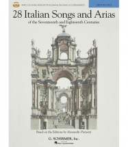 28 Italian Songs And Arias Of 17th And 18th Cent Parisotti + 2cd - Voice