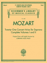 Mozart Wa - 21 Concert Arias For Soprano Volumes 1 And 2 Schirmer Lib - Soprano