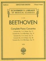 Beethoven Ludwig Van Complete Piano Concertos - Piano Solo