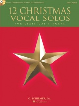 12 Christmas Vocal Solos For Classical Singers + Cd - High Voice