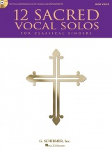 12 Sacred Vocal Solos For Classical Singers + Cd - High Voice