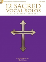 12 Sacred Vocal Solos For Classical Singers Low Voice + Cd