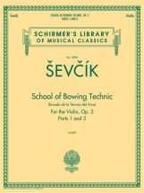 Sevcik Otakar School Of Bowing Techniques Op2 Parts 1 And 2 Violin- Violin