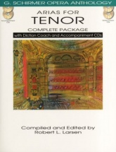 Arias For Tenor - Chant-piano + 4 Cd
