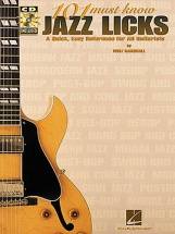 101 Must Know Jazz Licks + Cd - Guitar Tab