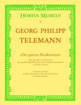 Telemann G.p. - Der Getreue Musikmeister - Flute, Basse Continue