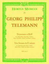 Telemann G.p. - Triosonate E-moll - Flute, Hautbois, Basse Continue