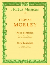 Morley Th. - Neun Fantasien Aus  First Book Of Canzonettas To Two Voyces3