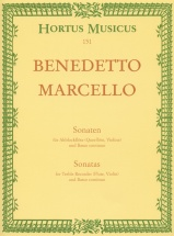 Marcello B. - Sonaten Für Altblockflöte Und Bc - Vol. 1