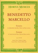 Marcello B. - Sechs Sonaten, Heft 3 Op. 2 - Flute A Bec, Basse Continue