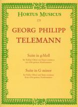 Telemann G.p. - Suite Fur Violine Oder Oboe Und Basso Continuo G-moll Twv 41:g4