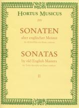 Sonaten Alter Englischer Meister Vol.2 - Für Altblockflöte Und Basso Continuo